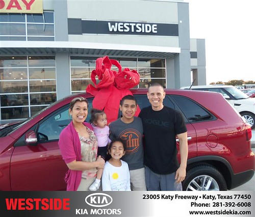 Happy Anniversary to Felipe Ortega on your 2014 #Kia #Sorento from Chowdhury Rubel and everyone at Westside Kia! #Anniversary by Westside KIA