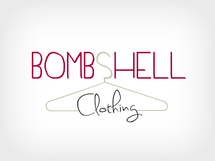 bombshell clothing logo design