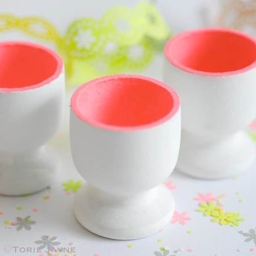 Neon egg cups step 2