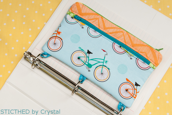 stitched by crystal tutorial 3 ring binder pencil case