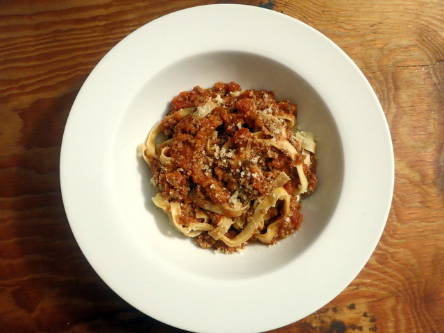 Fettucine with Bolognese sauce