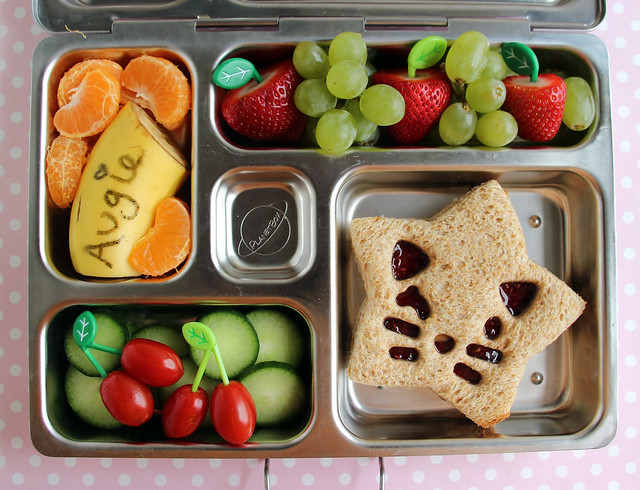 Preschooler Kitty Star Bento #629