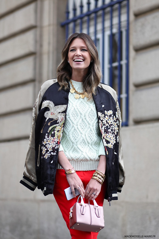 Helena Bordon at Paris fashion week