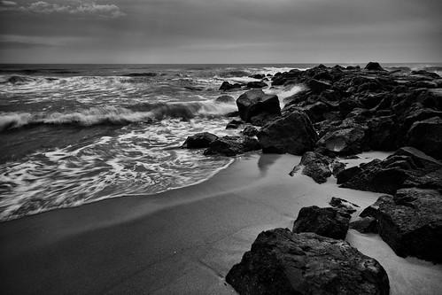 ocean bw beach water newjersey sand rocks waves unitedstates asburypark nj shore oceangrove ndfilter neptunetownship