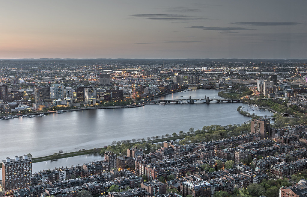 Boston skyline from the Prudential Skywalk - HDR - 2014-05-10 - [Explored]