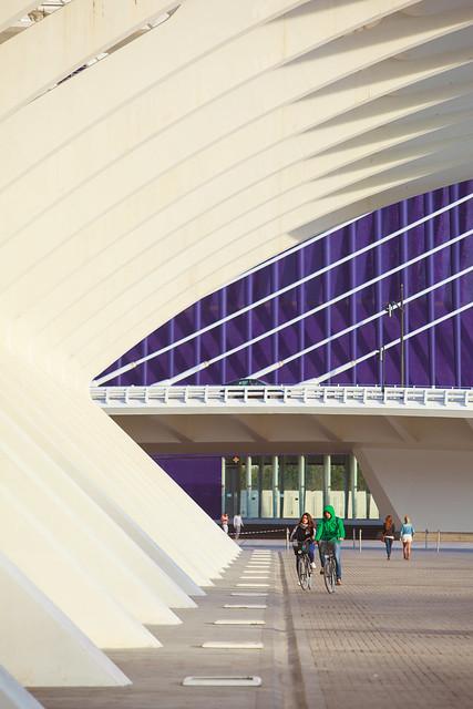 Ciudad de las Artes y las Ciencias biking : Valencia, España / Spain