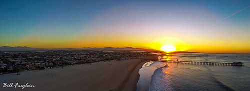 Seal Beach Pier at Sunrise #panorama #gopro #dji #drone #sunrise #aerialphotography