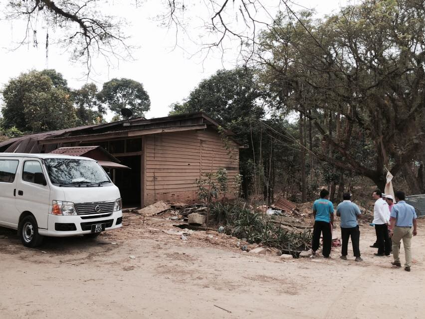 Damage assessment at Temangan,Machang