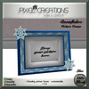 [PC] PIXEL CREATIONS - SNOWFLAKES PICTURE FRAME BLUE