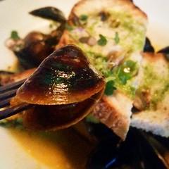 Mussels & linguica with a saffron...