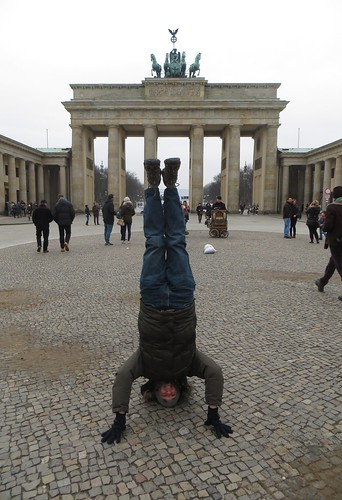 74. brandenburg gate headstand