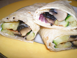 Grilled Vegetable Wraps