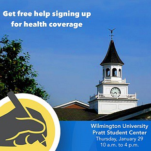 Choose Health Delaware will sponsor a healthcare sign up event in the Pratt Student Center at Wilmington University from 10 a.m. to 4 p.m. on Thursday, January 29. Free sign-up help will be available for those who still need to enroll before the February 15 deadline.