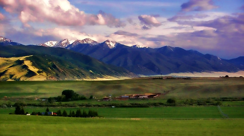 mountains landscape montana skies scenic