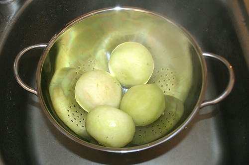 21 - Kohlrabi abkühlen lassen / Cool down kohlrabi