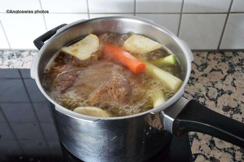 Pot  au feu on the boil