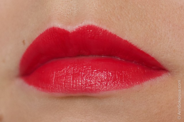 21 Lancome L'Absolu Rouge   Advanced Hydrating Lipcolor   Rouge Amour, Rose Comtesse swatches