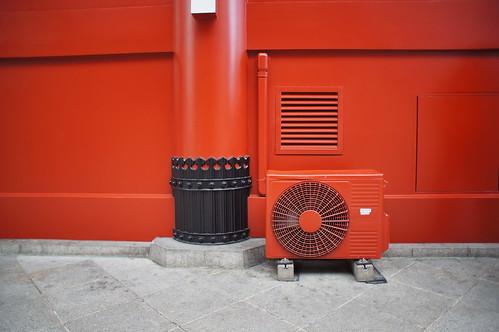 Sensō-ji: Entrance Portal Airconditioned / Eingangsportal klimatisiert