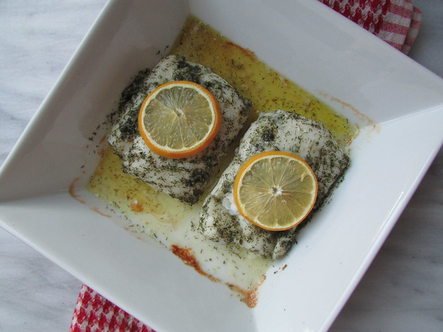 cod with lemon and dill on twothirtyate.com