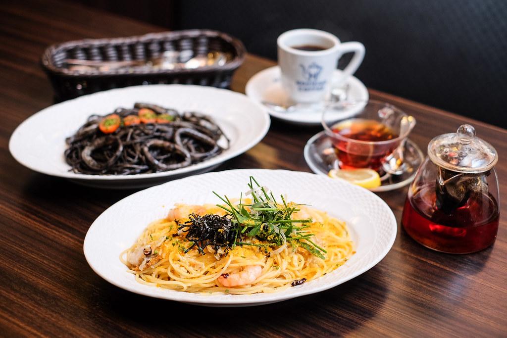 Hoshino Coffee's Karasumi Olive Oil Spaghetti @ ION Orchard