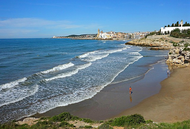 The Beach at Sitges