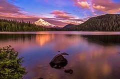 Mount Hood at Sunset on Lost Lake
