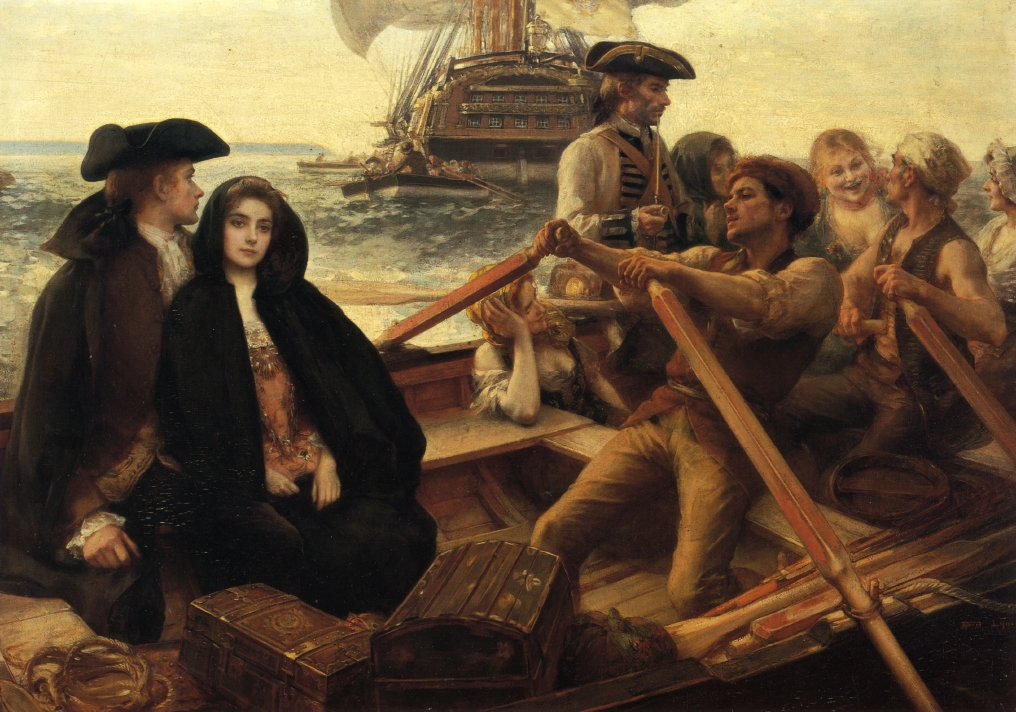 Embarking on a Voyage by Albert Lynch