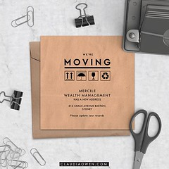 This is one of my latest moving card announcements I designed for @greenvelope #stationery #digital