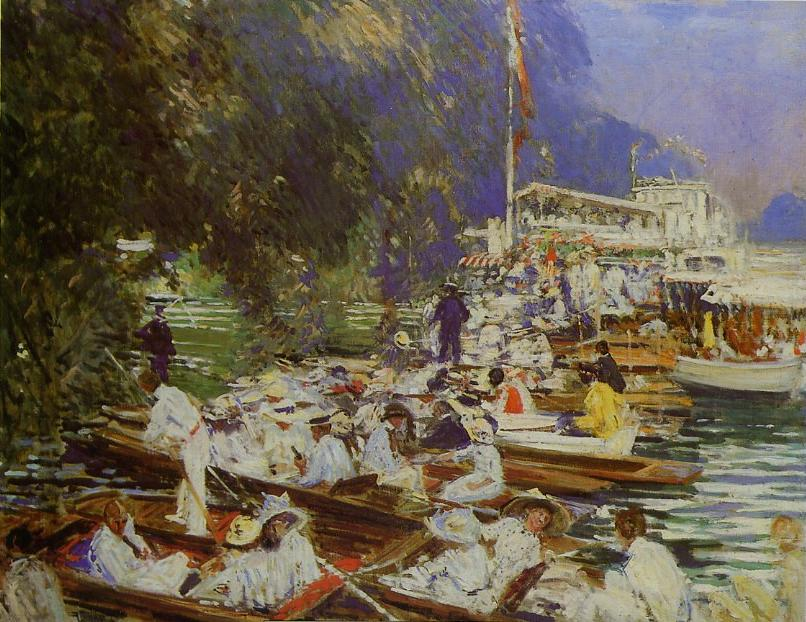 Regatta at Henley by Jacques Emile Blanche - 1924
