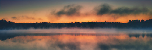 morning light panorama sun mist lake color water beautiful fog clouds sunrise canon reflections landscape pretty connecticut pano vsco vscofilm jackwassell