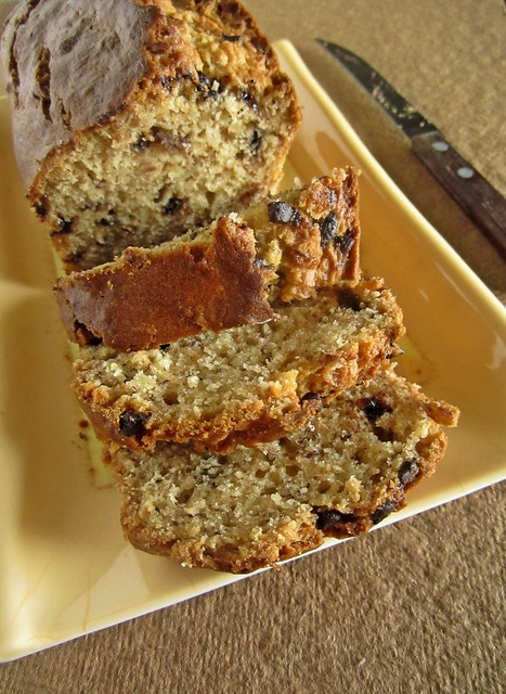 Peanut Butter- Banana Bread with Chocolate Chips
