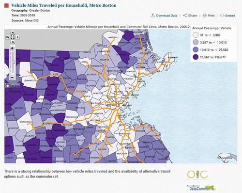 geographic distribution of driving rates (courtesy of Boston Indicators Project)