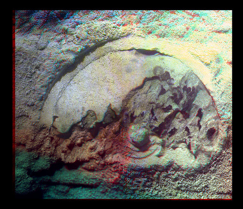 Opportunity Microscopic Imager sol 3301 - Esperance anaglyph