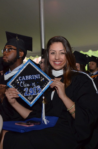 A Cabrini College 2013 graduate at Commencement