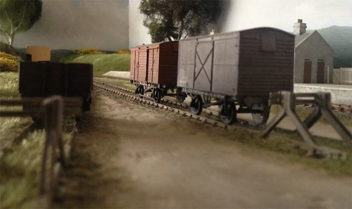 Wagons rest at Claterinbrigg GNSR