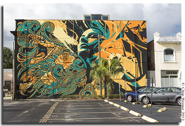 Mural behind the State Theater