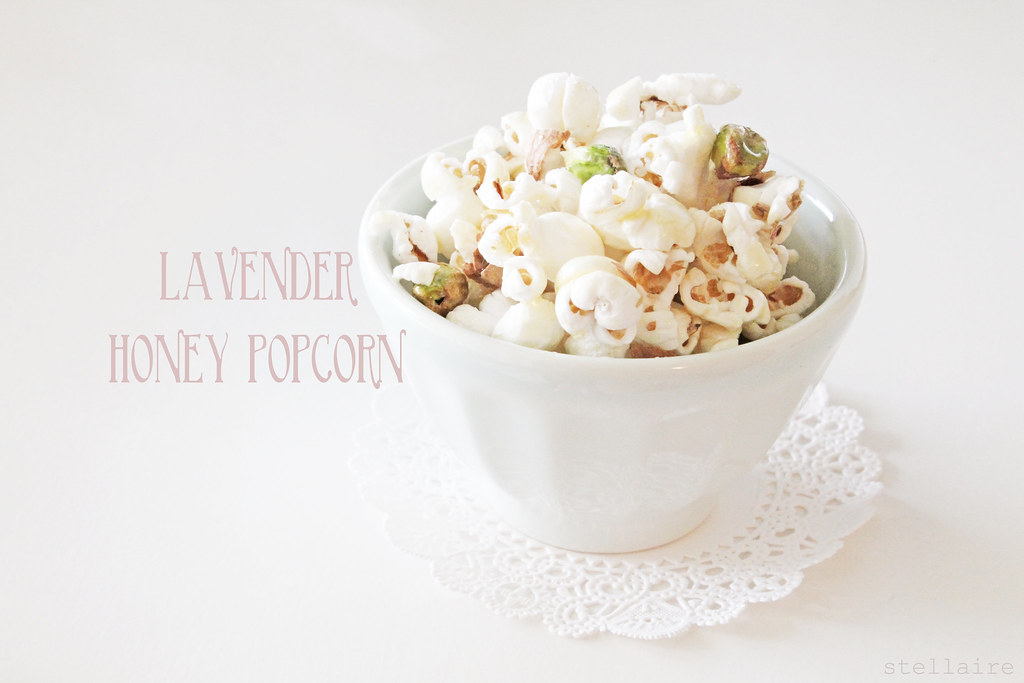 lavender honey popcorn