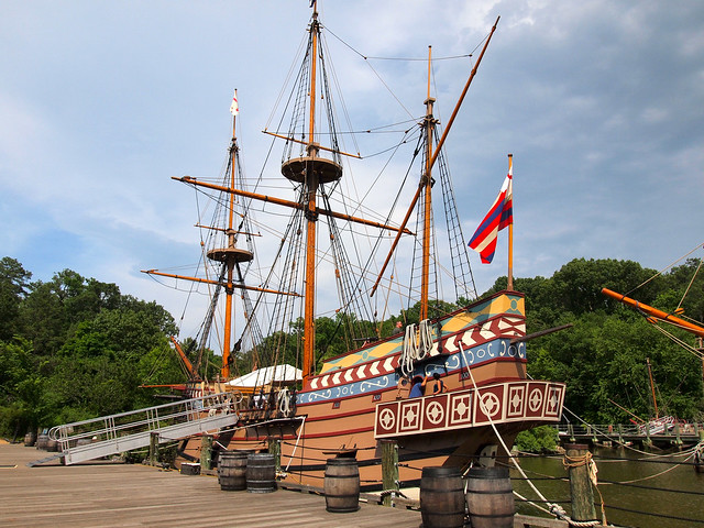 Jamestown Settlement ship replica