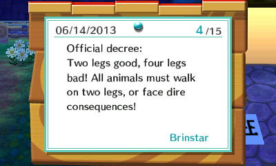 Official Decree: Two Legs Good!