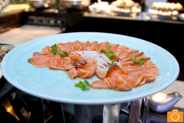 Corniche marinated raw salmon