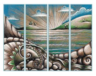 'Aotearoa Sunrise' Moleskine Cover Design