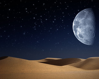 Desert on the night, abstract natural backgrounds