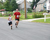 Father and son finish