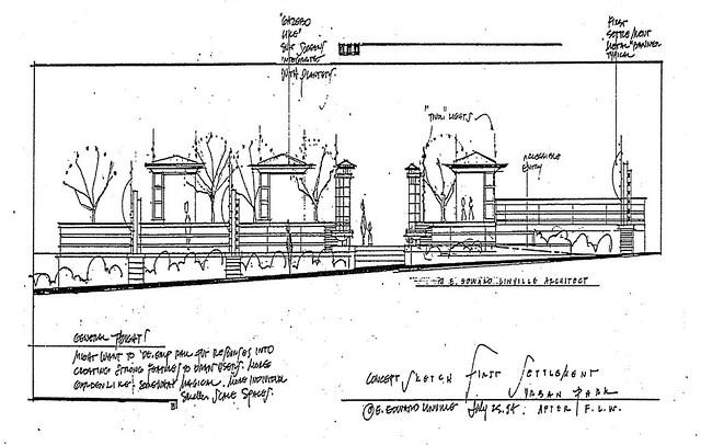 Concept sketch for reservoir site