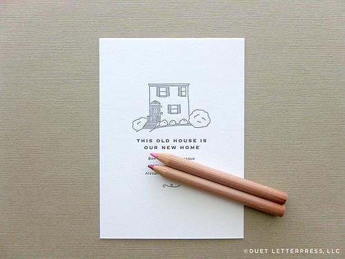 custom house sketch moving announcements // house no. 44
