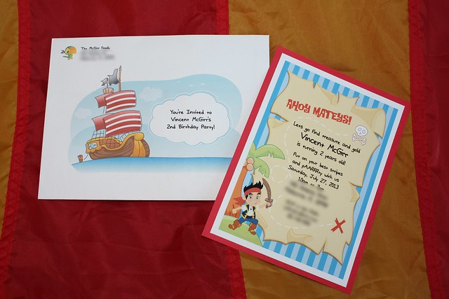 Vincent's Pirate Party invitation
