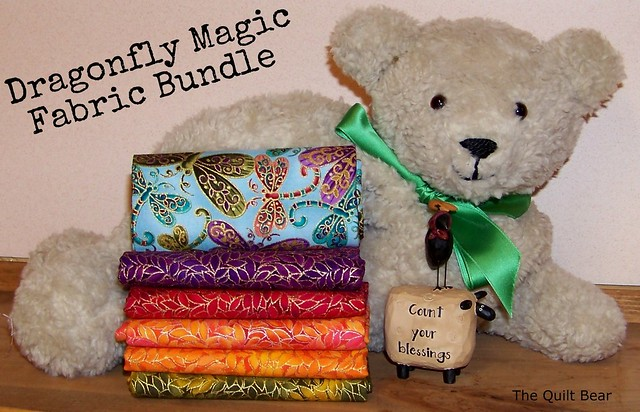 Quilt Bear Giveaway - August - Dragonfly Fat Quarter Pack