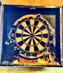 recreation(0.0), pattern(1.0), dartboard(1.0), indoor games and sports(1.0), sports(1.0), games(1.0), darts(1.0),