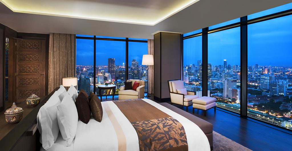 The St. Regis Bangkok—Master Bedroom Overlooking the City
