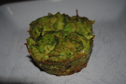 Broccoli-Provolone-Pasta Muffins